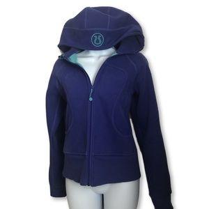 Lululemon Purple/Aqua Scuba Zip Up Hoodie Size 6